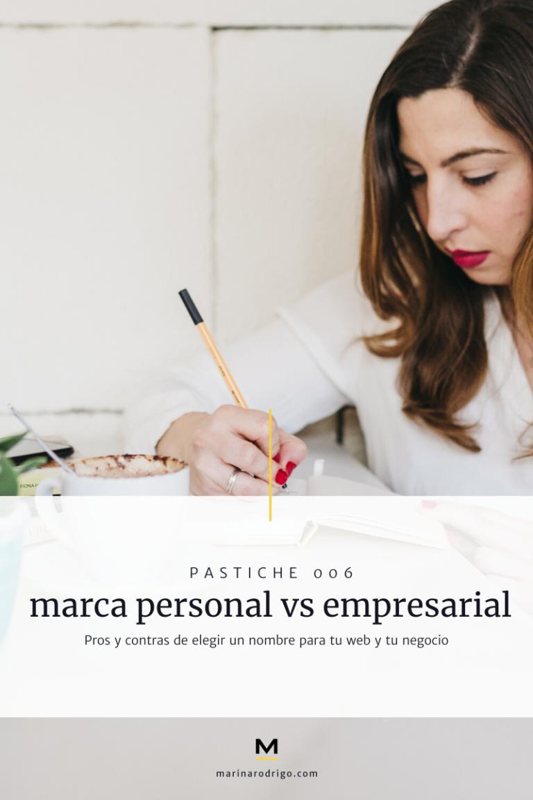 marca personal o marca empresarial para una web